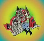 Bailey and Sentinel Prime by Autumn123Charlotte by ErinPrimette