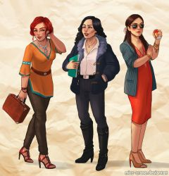 Modern AU Sorceresses by Miss-Crane