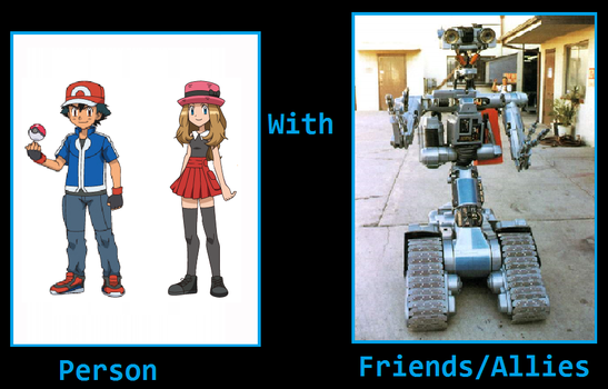 What If Ash + Serena became friends with Johnny 5 by ChipmunkRaccoonOz