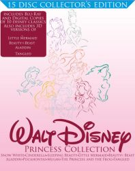 Walt Disney Princess BluRay collection(Front View) by staee