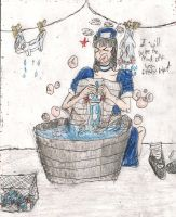 OC Fanart washing mudkips by kingofthedededes73