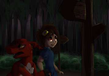 Lost in the Woods by Readasaur