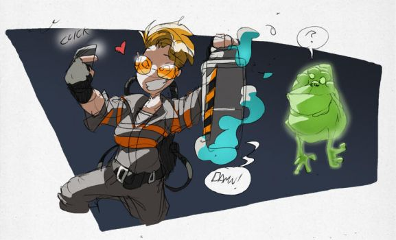 Ghostbusters Holtzmann by NachoMon