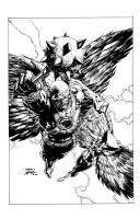 Brightest Day cover sample: HAWKMAN by lebeau37