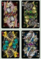 Playing cards 'Animagique'. Kings by Inshader