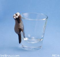 Ferret shotglass by gylkille