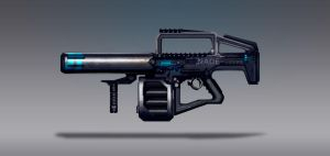 Commission Concept Art - Nade Rifle by torvenius