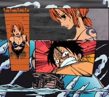 One piece - nami and luffy by duboisken