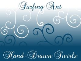Hand Drawn Swirls Brushes by surfing-ant