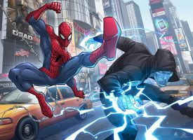 AMAZING SPIDERMAN 2 Collab with Patrick Brown by JoeyVazquez