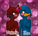 Victoria and Zoe  by Pinkwolfly