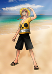hello to everyone by Luffy by HayabusaSnake