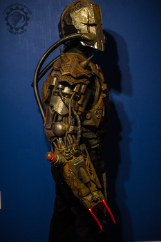 The Extractor - Cyborg post-apoc arm and helm by TwoHornsUnited