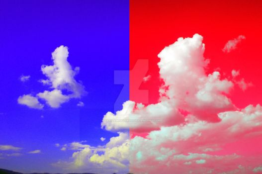 Clouds of Red And Blue by xxs1lv3rsparkxx