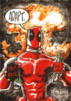 Deadpool Sketch Card Commission by ChrisMcJunkin