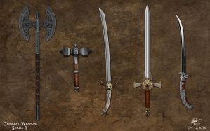 Weapon Concepts 1 by Alegion