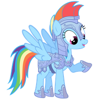 Rainbow Dash Vector - Rainbow Dashes New Armor by Anxet