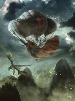 Air Pirates Over Dragonspine by Alegion