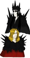 Melkor and Mairon by wristwatchwitch