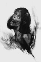Zombie girl - 4 by Quentinvcastel
