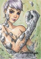 Elementals Sketch Card - Collette Turner 1 by Pernastudios