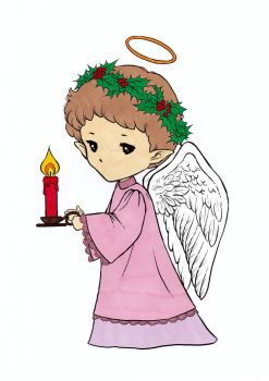 Candle Angel Sprite Colored by Maiko-Girl