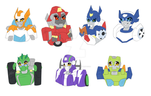 TF rescue bots keychains by dinosaphira99