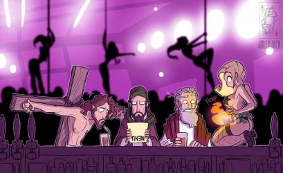 3 Prophets Walk Into A Bar by jollyjack