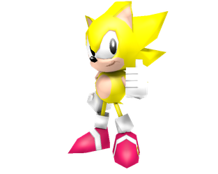 Low Poly Classic Super Sonic by Nash-The-Mutt