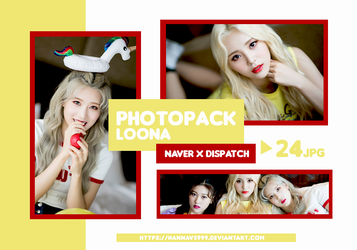 PHOTOPACK LOONA - NAVER x DISPATCH Pt.1 // HANNAK by hannavs999