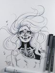 Inktober Underwater Drawing Illustration by punchyone