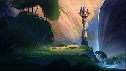 Rapunzels Tower - Tangled the series by FionaHsieh