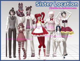 FNAF Sister Location Models: DL Coming Soon by White-Hu