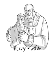 Heavy x Medic by LenSmile