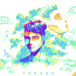 Terine- Cloud Me [Commissioned Cover Art] by Fleja2003