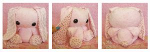 Pink Rosebud PatterBunny by ChibiWorks