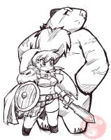 Celtic warrior and bear familiar by DragoonTequila