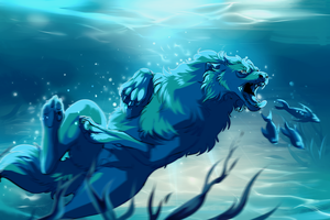 deep blue see by Ebbarie