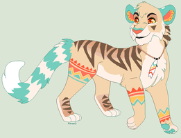 Beach Bum Tiger Design Commission by Kainaa