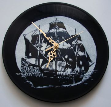Black Pearl on vinyl record by vantidus