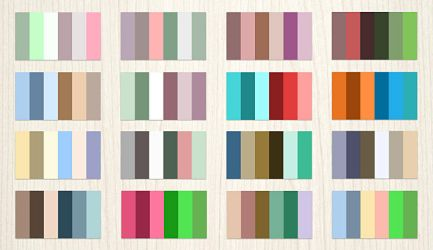24 Complementary Color Palette by elemis