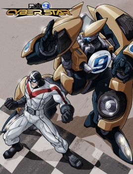 Racer X and the RX9 Cyber Star by REX-203