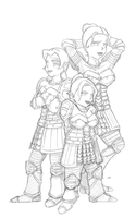 Wardens of a Feather : Sketch by kamidoodles