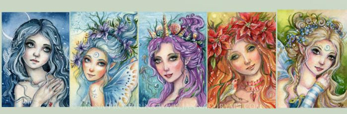 ACEO Collection 2 by JannaFairyArt