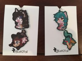 Primal Plant Pony Tail Charms by Left2Fail by Bellona27