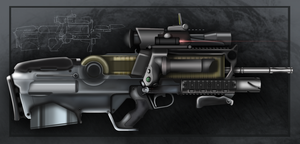 Futuristic Assault Rifle by Gasteiz