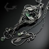 IGATHRIS - Silver, Green Amethyst and Prehnite. by LUNARIEEN