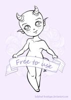 Chibi-demon base by LadyBael-Boutique