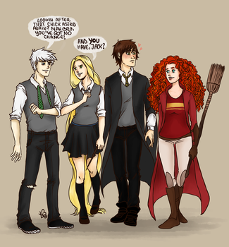 The Big Four/Harry Potter crossover by LilyScribbles