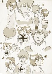Ichiruki sketch...again (Part 1) by lylyn19937